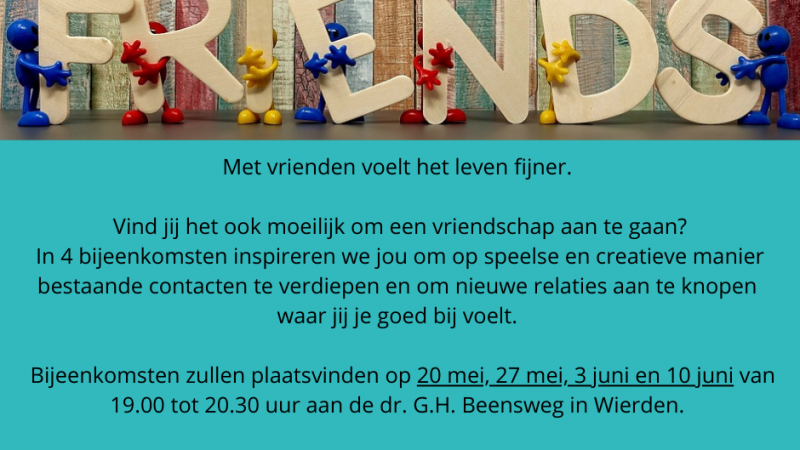 Friends_workshops over vriendschap en ontmoeting