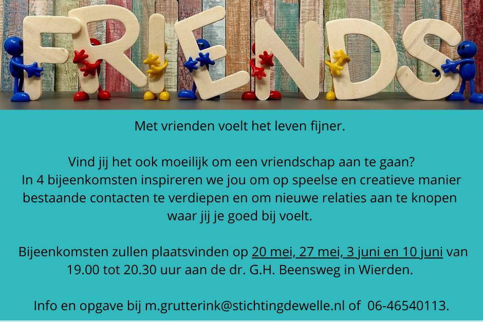 Friends_workshops over vriendschap en ontmoeting